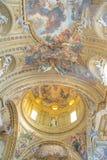 Watykan, Rzym Włochy, Luty, - 16, 2015: Ozdobny wnętrze Świątobliwy Peter zdjęcie stock