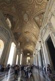 Watykan, Rzym Włochy, Lipiec, - 10, 2017: Watykański Główny Hall Fotografia Stock