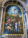 19 06 2017, watykan: Saint Paul ` s katedry wnętrze Zdjęcia Stock