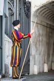 WATYKAN, WŁOCHY MARZEC 23: Szwajcarski gwardzista w Watykan, Rzym Zdjęcia Royalty Free