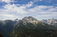 Watzmann. Second highest mountain in Germany Royalty Free Stock Image