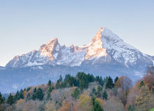 Watzmann in the morning Royalty Free Stock Photo