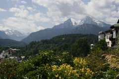 Watzmann Mountain, Austria Royalty Free Stock Photos