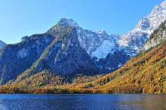 Watzmann mountain and Konigssee lake Royalty Free Stock Photo