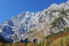 Watzmann peak from Eastern Alps in Germany Stock Photo