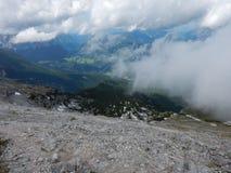Watzmann rampicante della cresta della montagna in Germania Immagine Stock Libera da Diritti