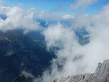 Watzmann rampicante della cresta della montagna in Germania Immagine Stock