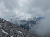 Watzmann rampicante della cresta della montagna in Germania Immagini Stock
