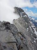 Watzmann rampicante della cresta della montagna in Germania Fotografia Stock Libera da Diritti