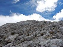 Watzmann rampicante della cresta della montagna in Germania Fotografie Stock Libere da Diritti