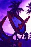 Wau Kite flying Royalty Free Stock Images