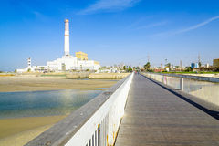 Wauchope Bridge over the Yarkon stream, in Tel-Aviv Stock Photography