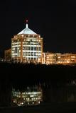 Wausau do centro na noite Fotografia de Stock