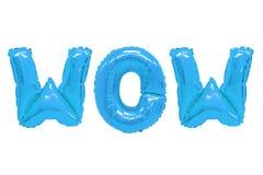 Wauw blauwe kleur stock afbeelding