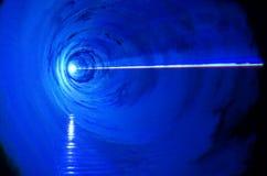 WAUW - blauwe lichteffecten Stock Afbeelding