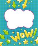 Wauw! Pop-artachtergrond Royalty-vrije Stock Foto