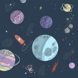 Wauw ruimte vectorbeeldillustratie royalty-vrije illustratie