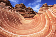 The Wave — Paria-Vermilion Cliffs Wilderness. The Wave in the Coyote Buttes section of the Paria Canyon-Vermilion Cliffs Wilderness in northern Arizona and Stock Photos