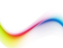 Wave. Yellow, purple and blue wave over white background Royalty Free Stock Photography