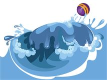 Wave. Vector illustration of a wave Royalty Free Stock Image