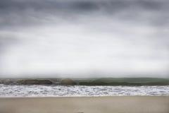Wave. Lacona beach in elba island in winter Stock Photography