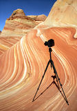 The Wave. Famous rock formation in Pariah Canyon, Vermillion Cliffs national monument, Utah, USA Stock Images