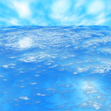 Wave. The Water surface any lake, yard, pool, ocean Stock Photography