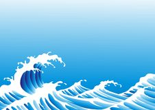 wave stock illustrationer