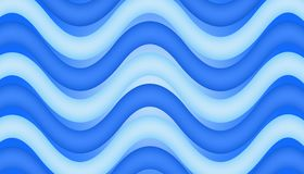 Wave. Abstract water wave in different shades of blue for background royalty free illustration