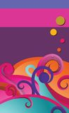 Wave. Illustration of colorful design waves Stock Photos