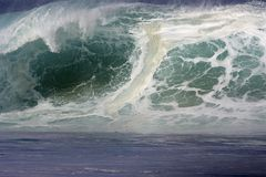Wave. Large Northshore of Oahu crashing wave Stock Photo