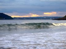 The Wave. Coastline at White Bay, Co. Cork, Ireland Stock Image