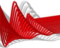 Wave. Flowing creativity illustration shiny Royalty Free Stock Image