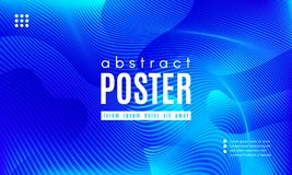 Wave Abstract Background with Color Fluid Shapes. Blue Liquid Shapes. Abstract Poster with Distortion of Wave Stripes. Vector Gradient Background with Movement vector illustration