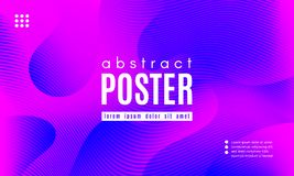 Wave Abstract Background with Color Fluid Shapes. Abstract Background with Fluid Shapes. Wave Distorted Lines. Movement of Abstract Neon Liquid. Trendy Banner vector illustration