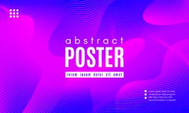 Wave Abstract Background with Color Fluid Shapes. Abstract Background with Fluid Shapes. Wave Distorted Lines. Movement of Abstract Neon Liquid. Trendy Banner stock illustration