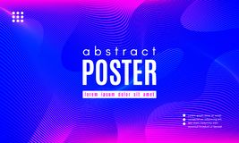 Wave Abstract Background with Color Fluid Shapes. Gradient Fluid Shapes. Abstract Background in Blue and Pink Colors. Wave Liquid and Distorted Gradient Lines royalty free illustration