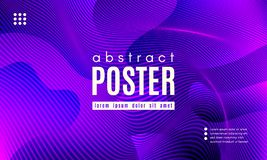 Wave Abstract Background with Color Fluid Shapes. Wave Poster with Fluid Shapes. Gradient Abstract Background with Movement of Wave Liquid Forms. Linear stock illustration