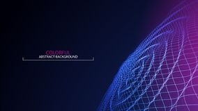 Wave abstract colorful background. 3d grid. Big data. Futuristic. Vector illustration vector illustration