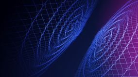 Wave abstract colorful background. 3d grid. Big data. Futuristic. Vector illustration stock illustration