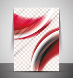 Wave abstract corporate flyer print design Royalty Free Stock Photos