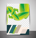 Wave abstract corporate flyer print design Royalty Free Stock Image