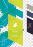 Wave abstract corporate flyer print design Royalty Free Stock Photography