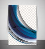 Wave abstract corporate flyer print design Stock Photography