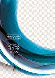Wave abstract corporate flyer print design Stock Image