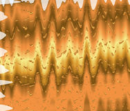 Wave Abstract gold background. Template Royalty Free Stock Photo