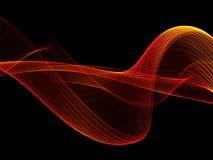 Wave abstract images, color design Abstract colored wave royalty free illustration