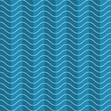 Wave abstract pattern. Wavy stripes seamless pattern. Abstract fashion wave texture. Geometric blue and white backgrounds. Volume effect. 3D Vector interior wall Royalty Free Stock Images