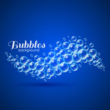 Wave of Air Bubbles Royalty Free Stock Photography