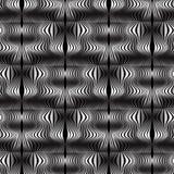 Wave allinea il modello senza cuciture di vettore dell'illusione ottica Abst moderno illustrazione vettoriale